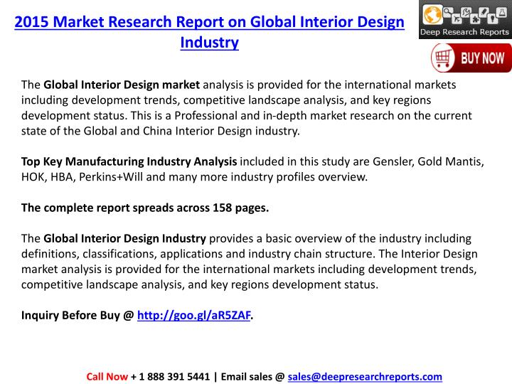 2015 Market Research Report On Global Interior Design Industry