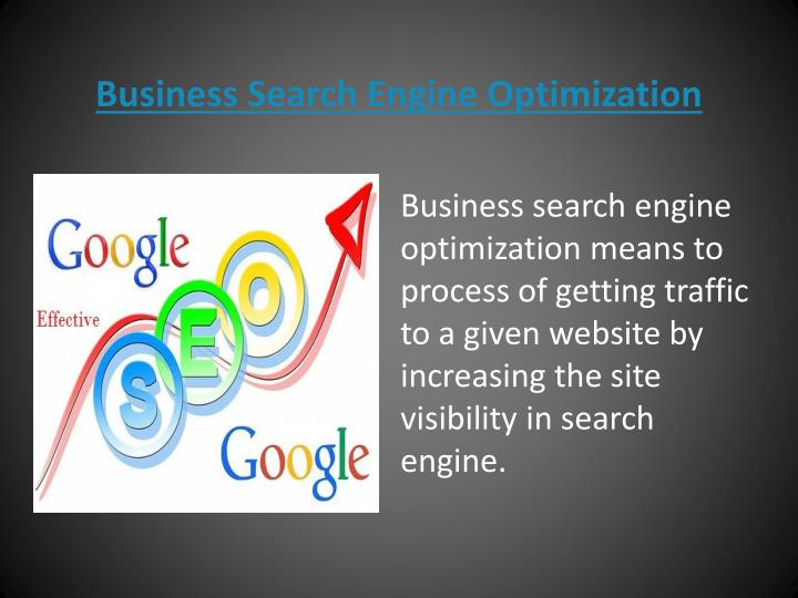 business search engine optimization n.