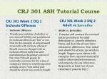 crj 301 ash tutorial course3
