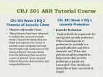 crj 301 ash tutorial course5