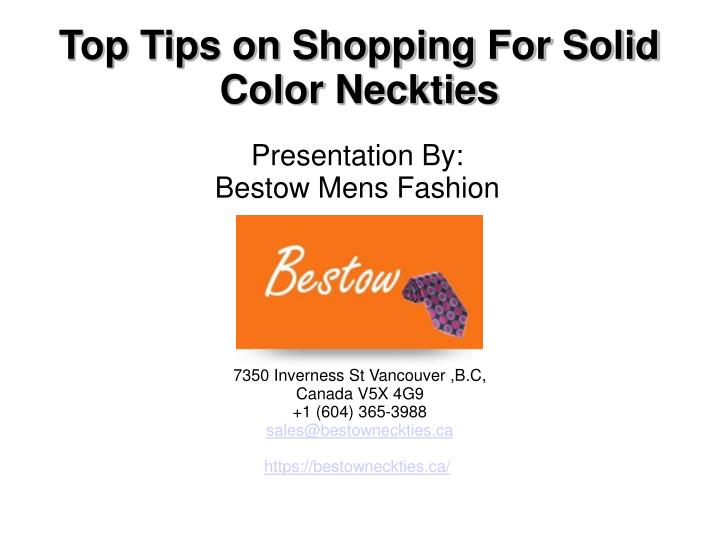 presentation by bestow mens fashion n.
