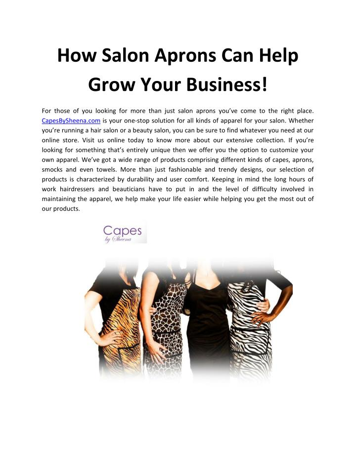 How Salon Aprons Can Help