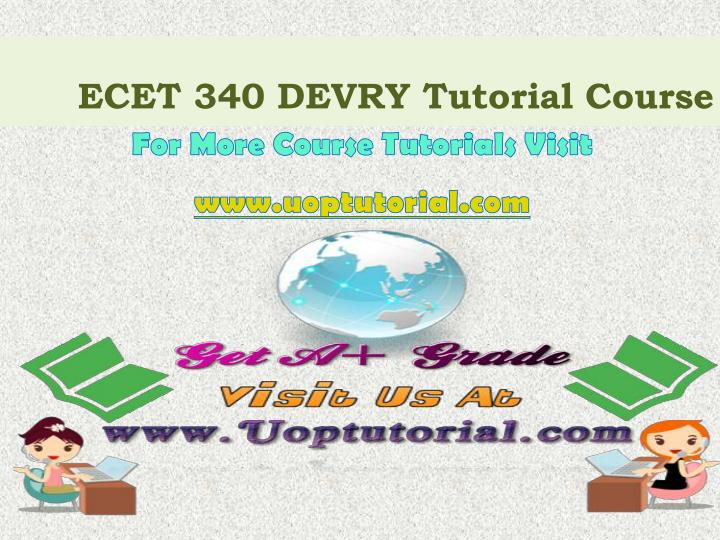 ecet 340 devry tutorial course n.