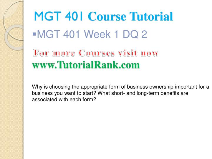 dq week 2 mgt 401 Find answers of bus 401 week 2 dq 2 for students of ash use these solutions at uopcourseworkhelpercom at reasonable rates.