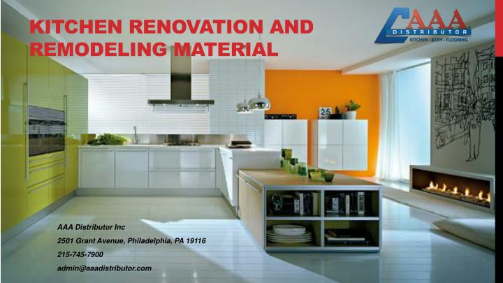 kitchen renovation and remodeling material n.