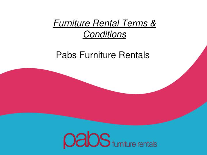 furniture rental terms conditions n.