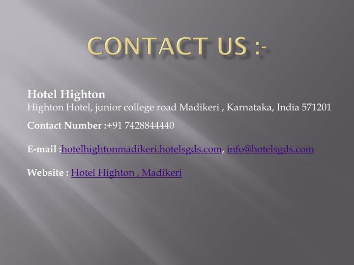 CONTACT US :-