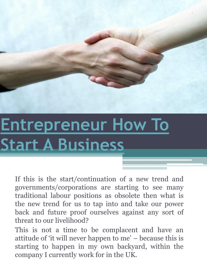entrepreneur how to start a business n.