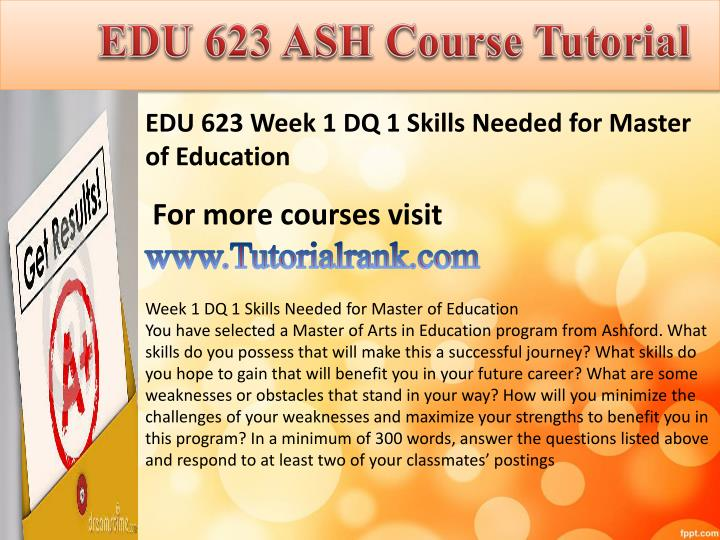 Edu 623 ash course tutorial1