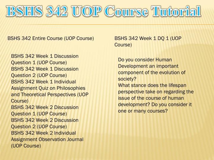 bshs 342 week 1 quiz