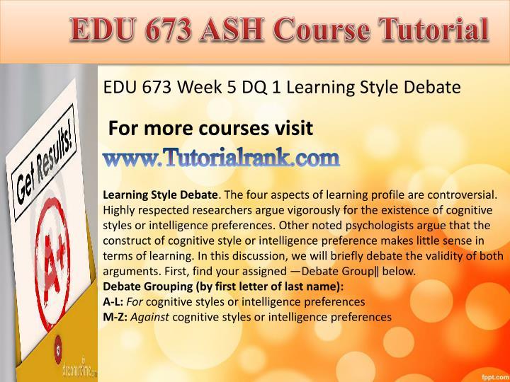 EDU 673