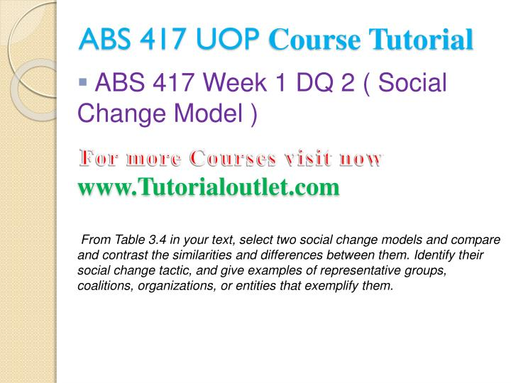 Abs 417 uop course tutorial2