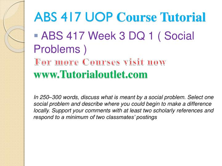 ABS 417 UOP