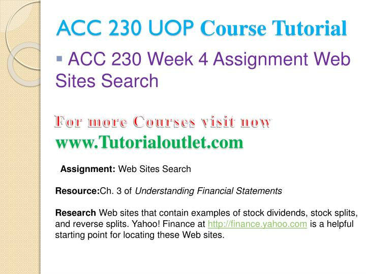 ACC 230 UOP