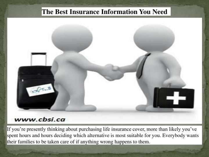 The Best Insurance Information You Need