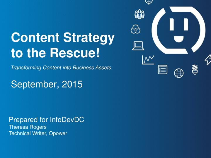 content strategy to the rescue n.