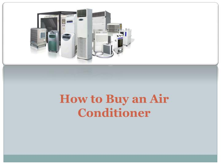 How to Buy an Air
