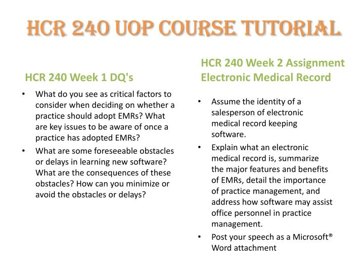hcr 240 week 7 dq 1 Hcr 240 entire course link  240 week 1 health care terminology worksheetcomplete the health care terminology worksheet.