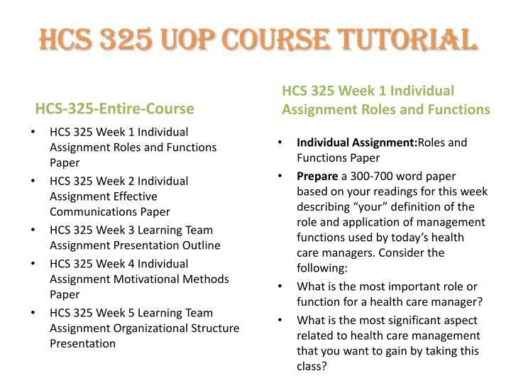 hcs 325 week 3 team b Hcs 325 uop material- hcs325dotcom hcs 325 week 1 individual assignment roles and functions paper hcs 325 week 3 learning team assignment presentation.