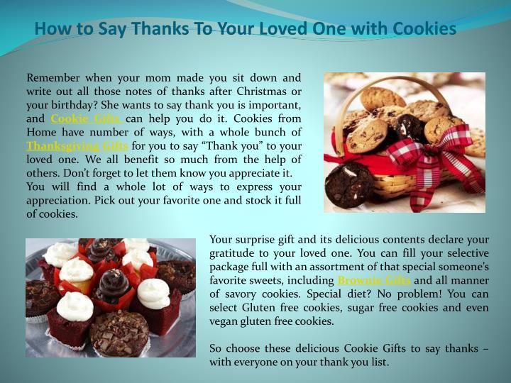 how to say thanks to your loved one with cookies n.