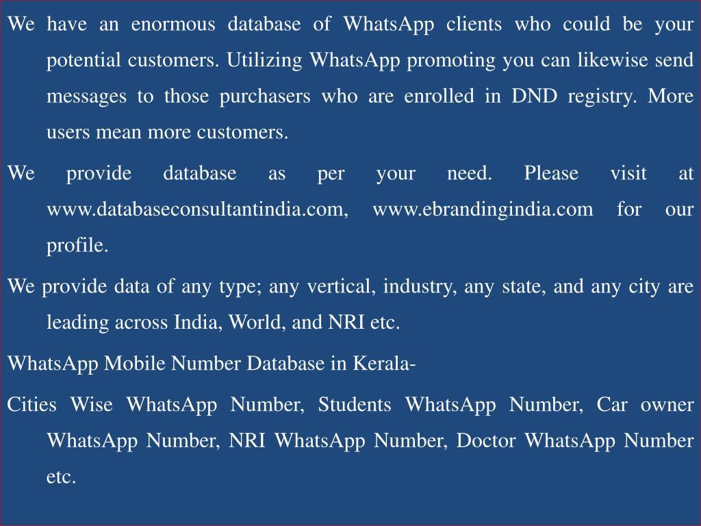 Nri database