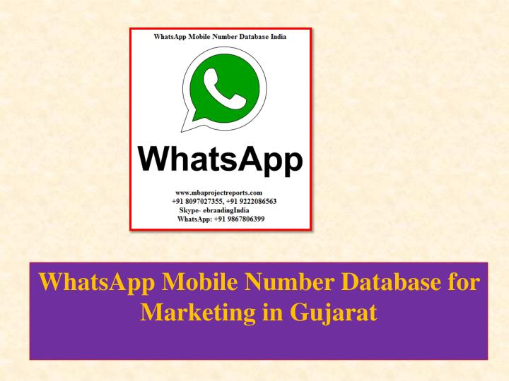 whatsapp mobile number database for marketing in gujarat n.
