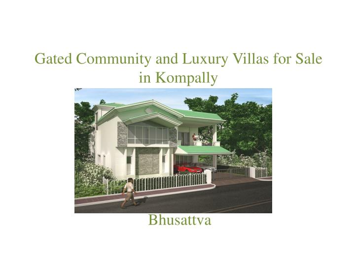 gated community and luxury villas for sale in kompally n.