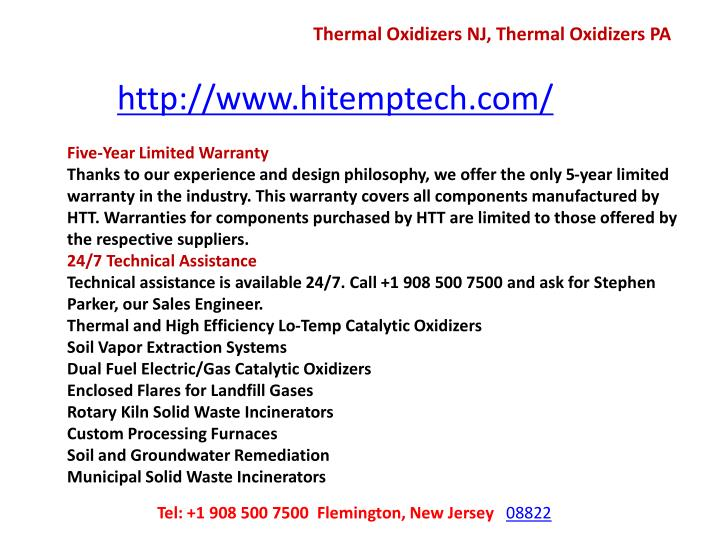 Thermal Oxidizers NJ, Thermal Oxidizers PA