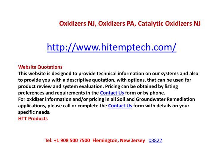 Oxidizers NJ, Oxidizers PA, Catalytic Oxidizers NJ