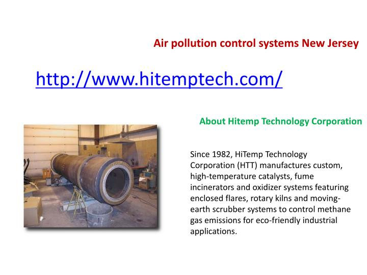 Air pollution control systems New Jersey
