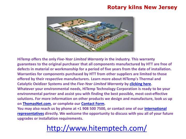 Rotary kilns New Jersey