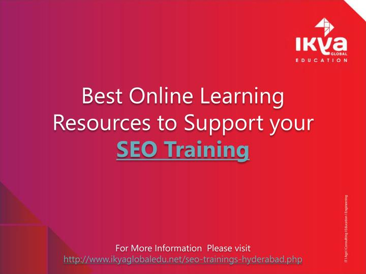 best online learning resources to support your seo training n.