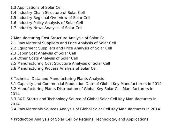 1.3 Applications of Solar Cell