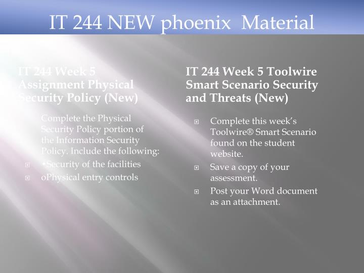 network security policy sunica music it 244 week 9