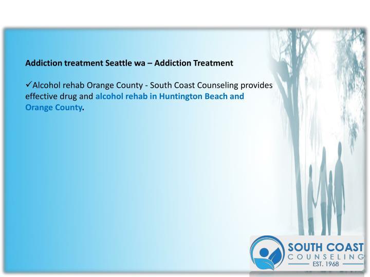 Addiction treatment Seattle