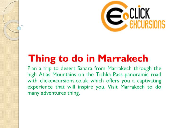 thing to do in marrakech n.