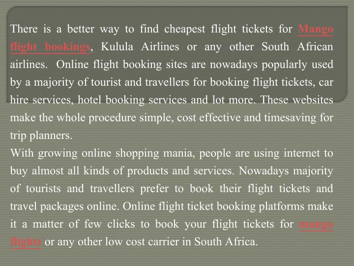 There is a better way to find cheapest flight tickets for