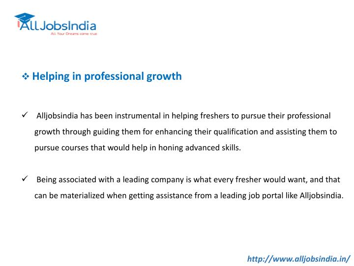 Helping in professional growth