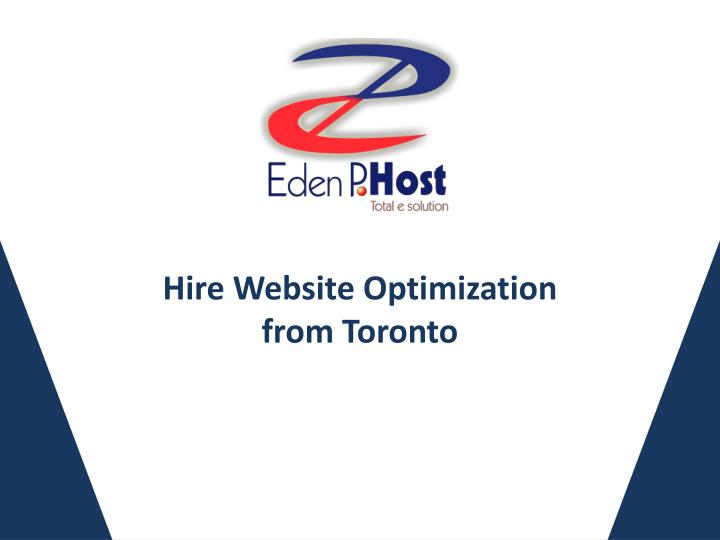 hire website optimization from toronto n.
