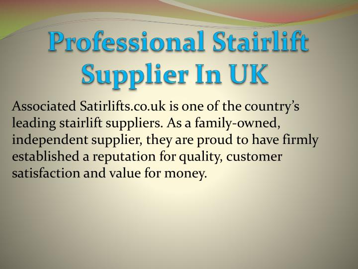 professional stairlift supplier in uk n.