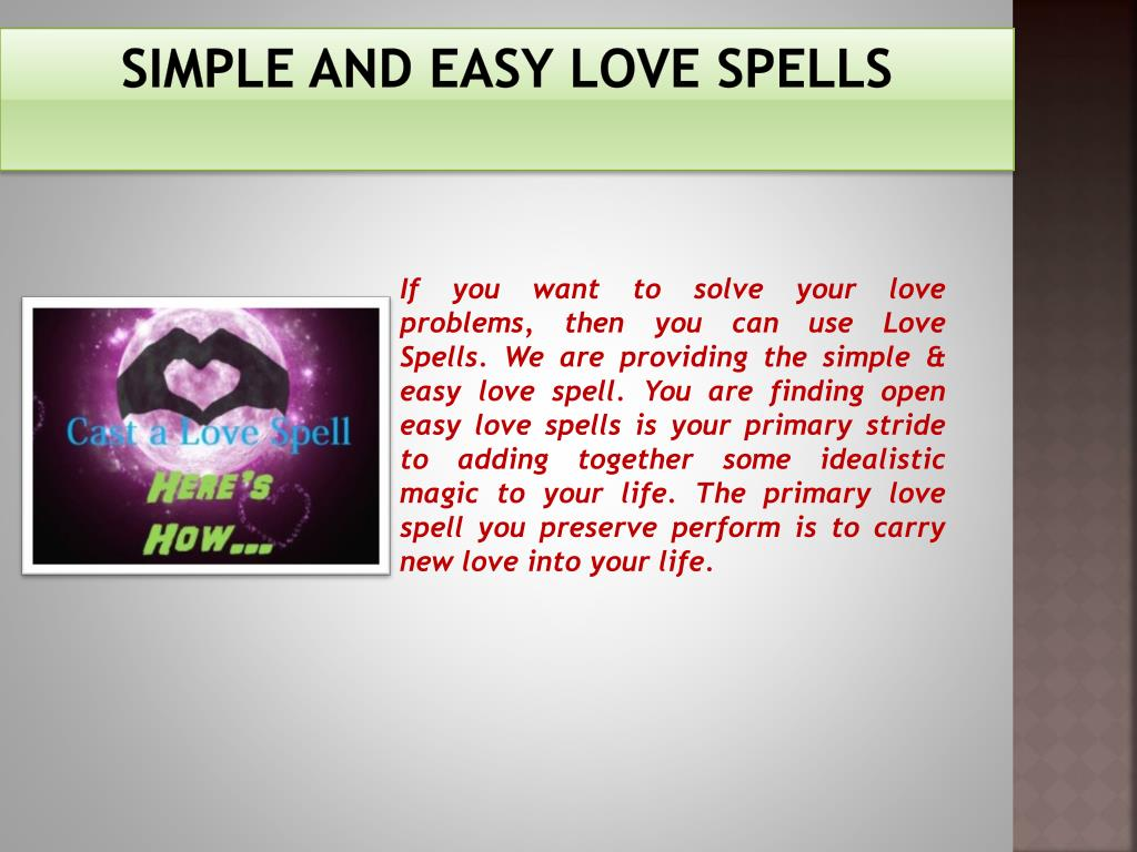 PPT - Simple And Easy Love Spells 91-9660924092 PowerPoint