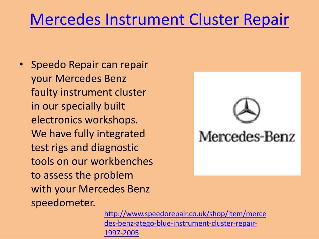 PPT - Speedometer Cluster Repair PowerPoint Presentation - ID:7214179