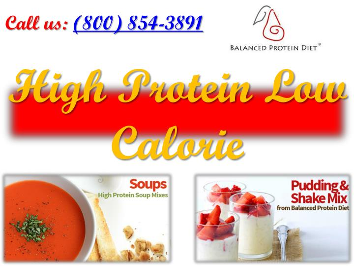 high protein low calorie n.