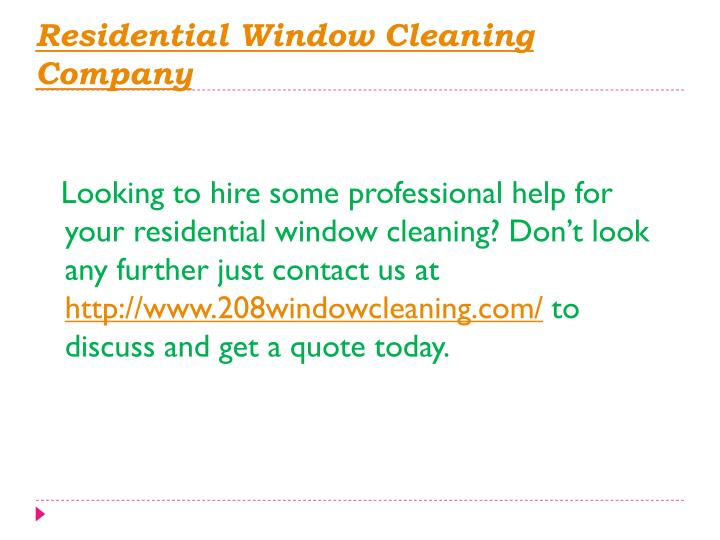 Residential window cleaning company1