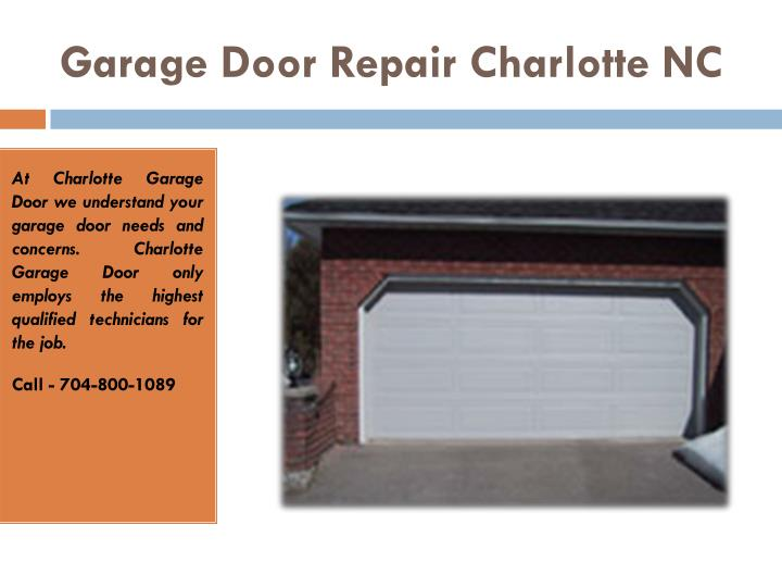 Ppt Garage Door Repair Charlotte Nc Openers