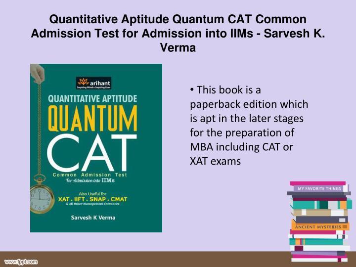 Nishit k sinha quantitative aptitude for cat