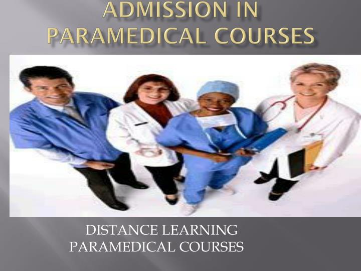 admission in paramedical courses n.