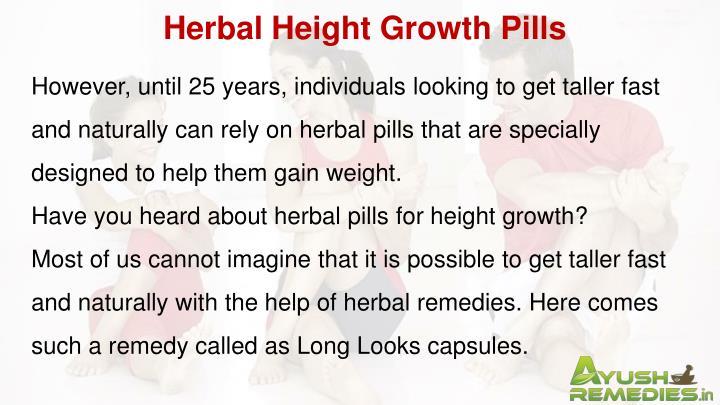 Herbal Height Growth Pills