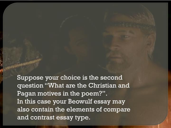beowulf christian and pagan elements essay