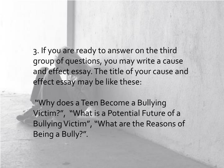 teenage victims of bullying essay